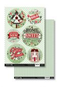 Craftstyle A4 Diecut Topper Sheet & Backing Sheet - New Home